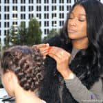 Dove Blogalicious closing party Dove #LoveYourHair hair bar braids