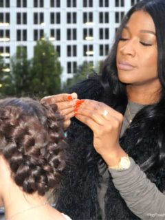 Dove Blogalicious closing party Dove #LoveYourHair hair bar braids