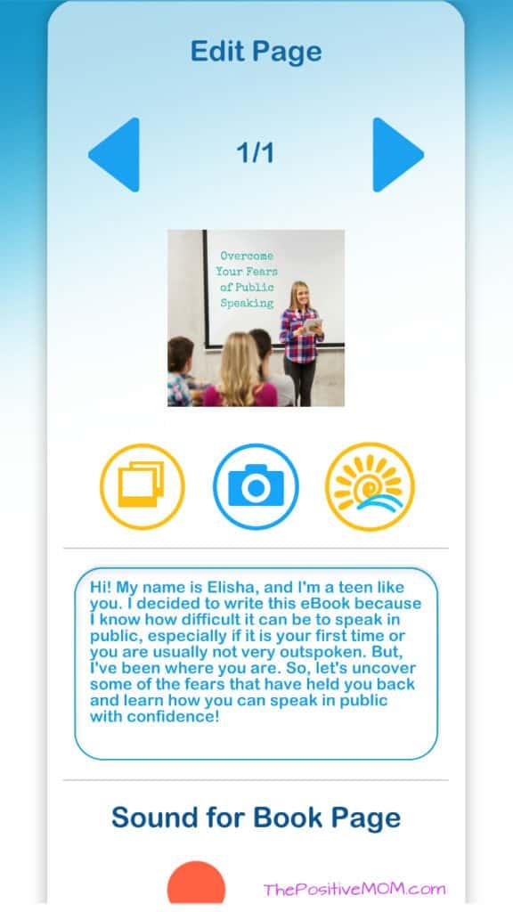 Edit page / ebook creation at Ebook Plaza
