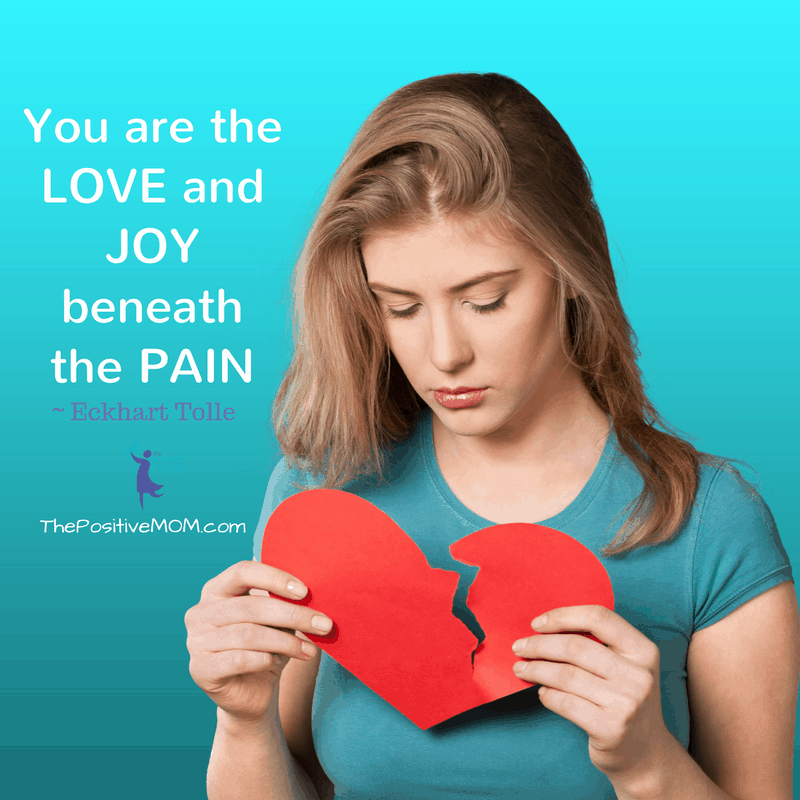 You are the love and joy beneath the pain. ~ Eckhart Tolle quote