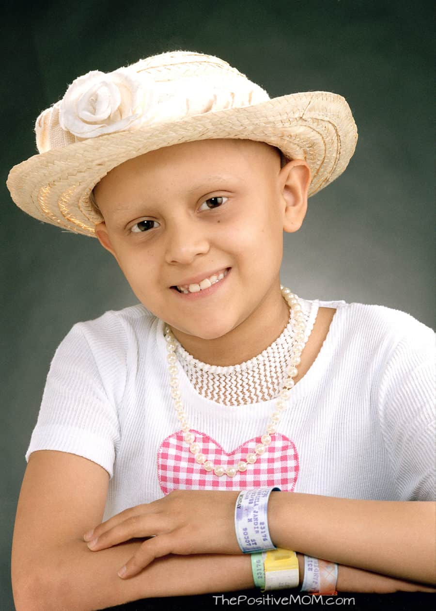 Gabby Salinas as a patient at St Jude for cancer treatment