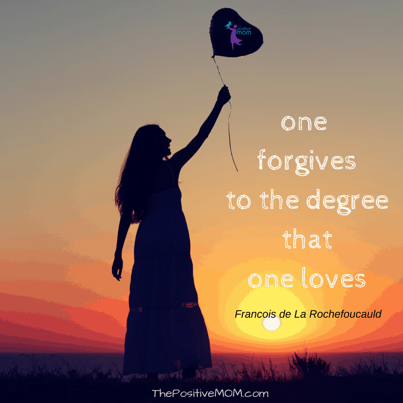"""One forgives to the degree that one loves."" - Francois de La Rochefoucauld quote"