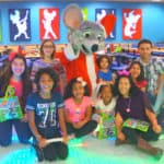 Chuck E. Cheese's birthday party celebration