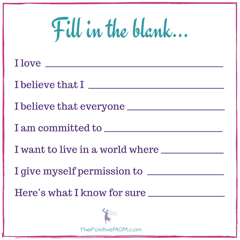 Personal Manifesto prompts by Elayna Fernandez ~ The Positive MOM - fill in the blank