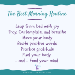 The best morning routine for moms | Elayna Fernandez ~ The Positive MOM
