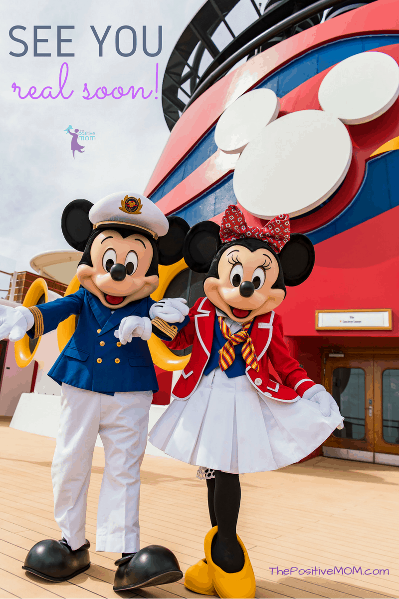 Mickey Mouse and Minnie Mouse aboard the Disney Wonder