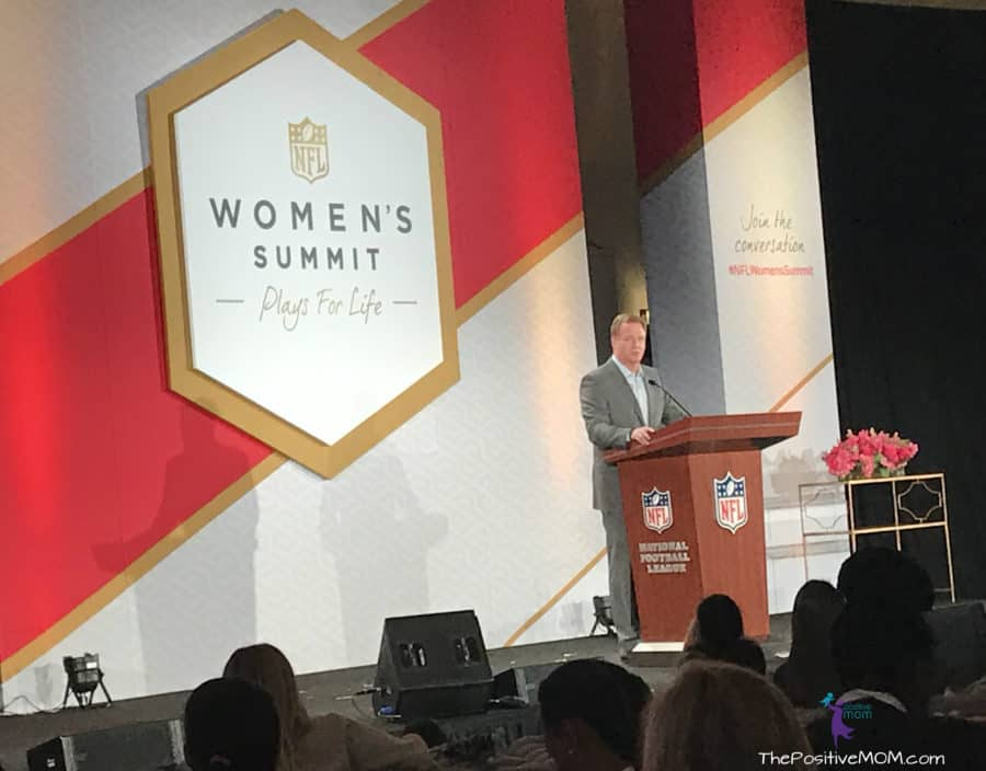 NFL Commissioner Roger Goodell at the NFL Women's Summit for Superbowl 51 in Houston TX