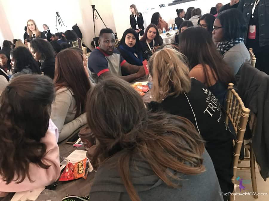 NFL Legends mentoring teen girls in Houston on Superbowl weekend