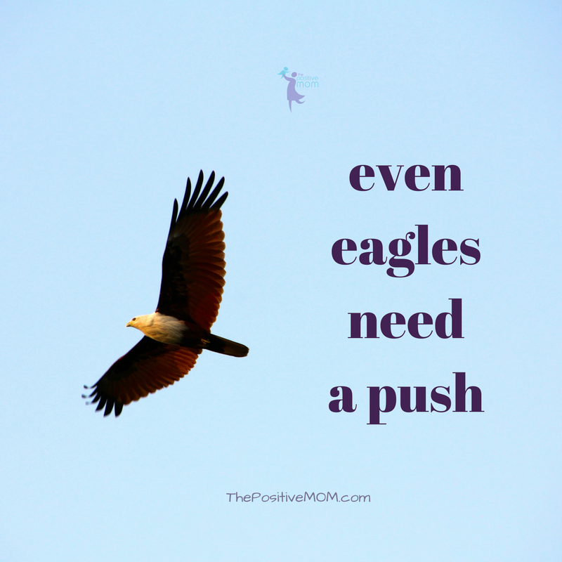 Even eagles need a push! | Elayna Fernandez ~ The Positive MOM