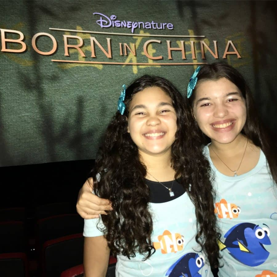 Elisha and Elyssa of WhollyART | Disneynature Born In China | Disney Social Media Moms Celebration #DisneySMMC