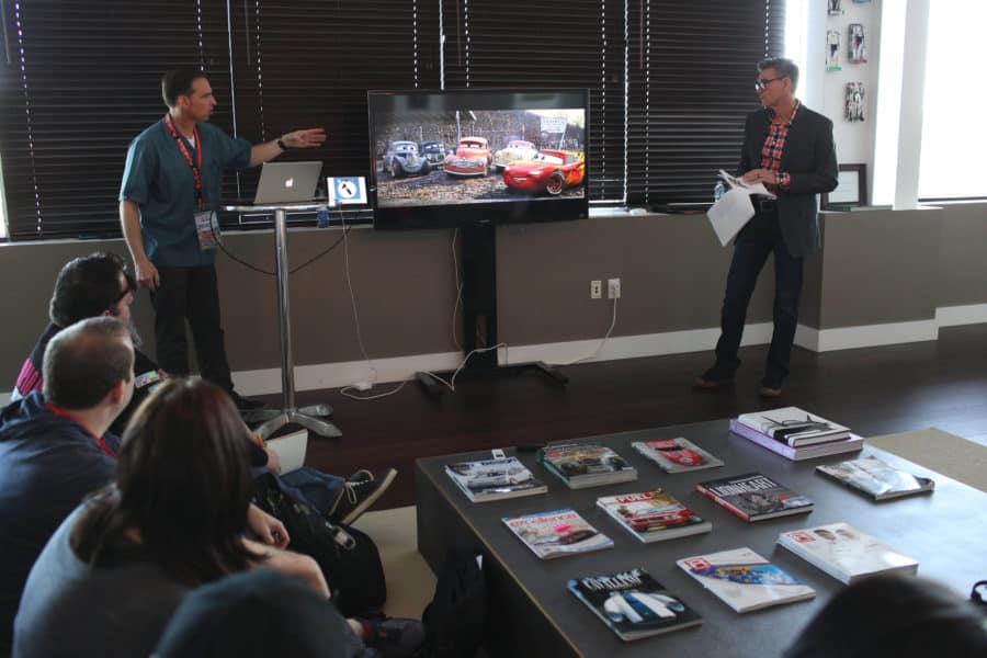 "The ""Cars 3"" Long Lead Press Days, held at Sonoma Raceway, including presentations by Creative Director Jay Ward and Ray Evernham, Former Crew Chief for Hendrick Motorsports, held on March 28, 2017 in Sonoma, Calif. (Photo by Deborah Coleman / Pixar)"