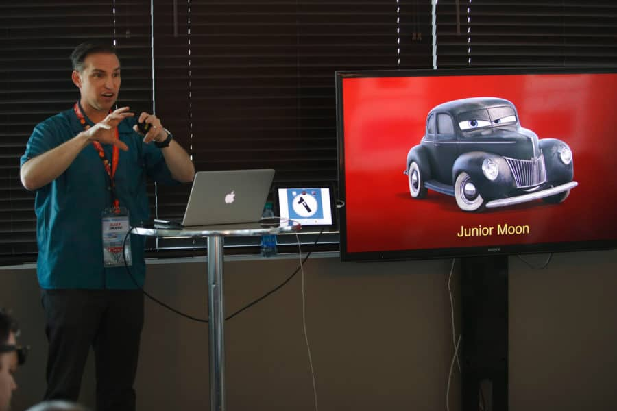 "The ""Cars 3"" Long Lead Press Days, held at Sonoma Raceway, including presentations by Ray Evernham, Former Crew Chief for Hendrick Motorsports, held on March 28, 2017 in Sonoma, Calif. (Photo by Deborah Coleman / Pixar)"