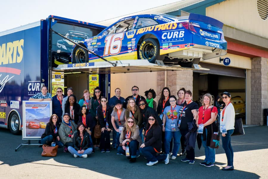 "The ""Cars 3"" Long Lead Press Days, held at Sonoma Raceway, including presentations by filmmakers, a press conference and raceway activities, including hot laps, held on March 28, 2017 in Sonoma, Calif. (Photo by Marc Flores)"