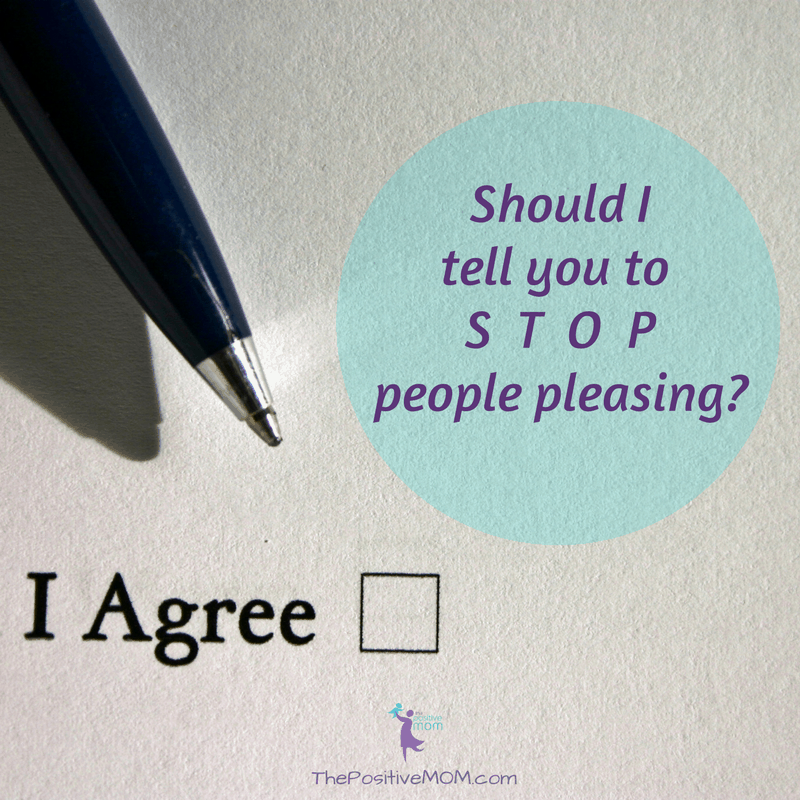 Should I tell you to stop people pleasing?