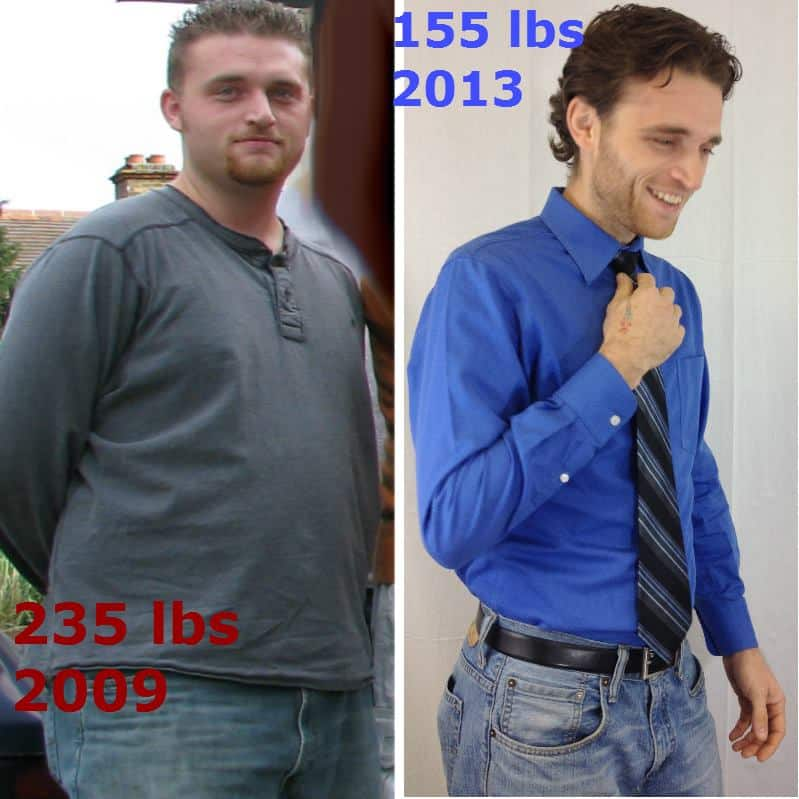 Before and after weight loss journey