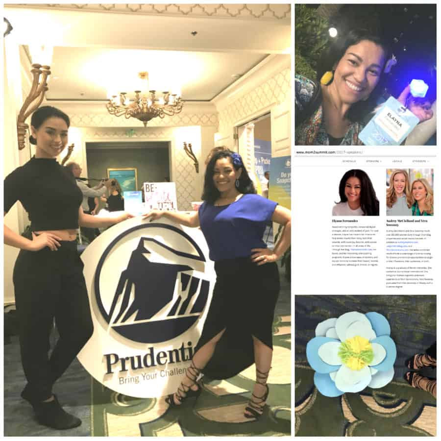 Prudential Brand Ambassador and Spokesperson Elayna Fernandez ~ The Positive MOM - Prudential Booth Lounge area at Mom 2.0