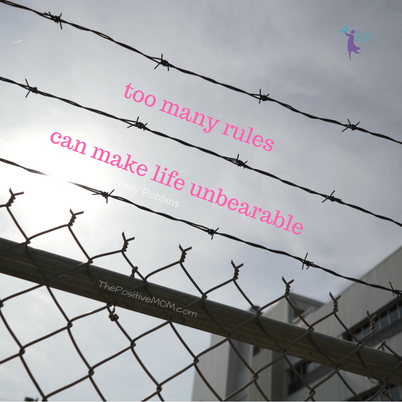 How can someone have it all and still be unhappy? As Tony Robbins said: Too many rules can make life unbearable!