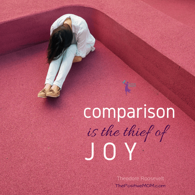 Comparison is the thief of joy - Theodore Roosevelt quote