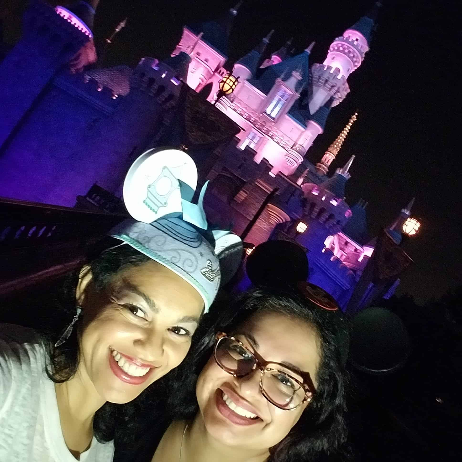 While at D23 Expo Disneyland and Disney California Adventure - Summer of Heroes - Candy and Elayna