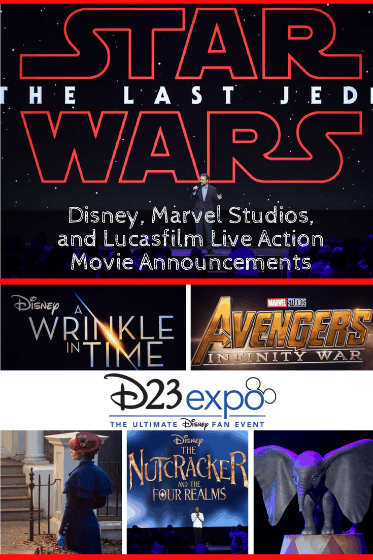 D23 Expo Disney, Marvel Studios and Lucasfilm live-action movie announcements