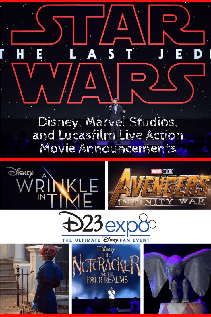 D23 Expo Disney, Marvel Studios and Lucasfilm live-action movie announcements