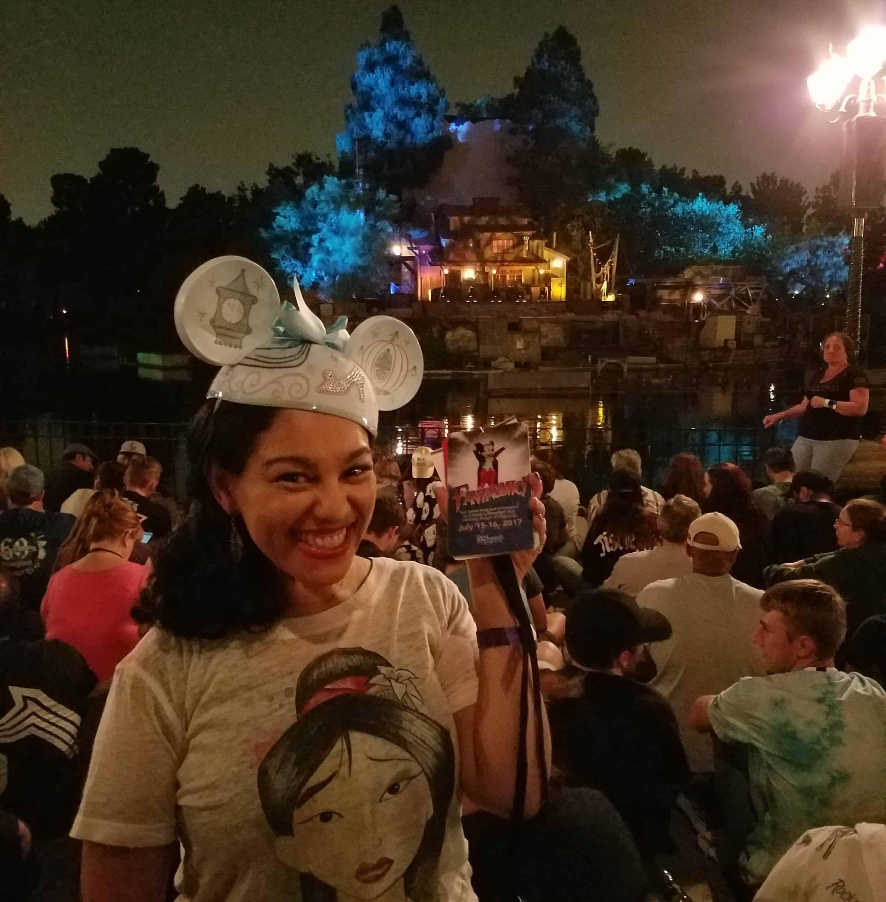 While at D23 Expo - Disneyland and Disney California Adventure - Fantasmic