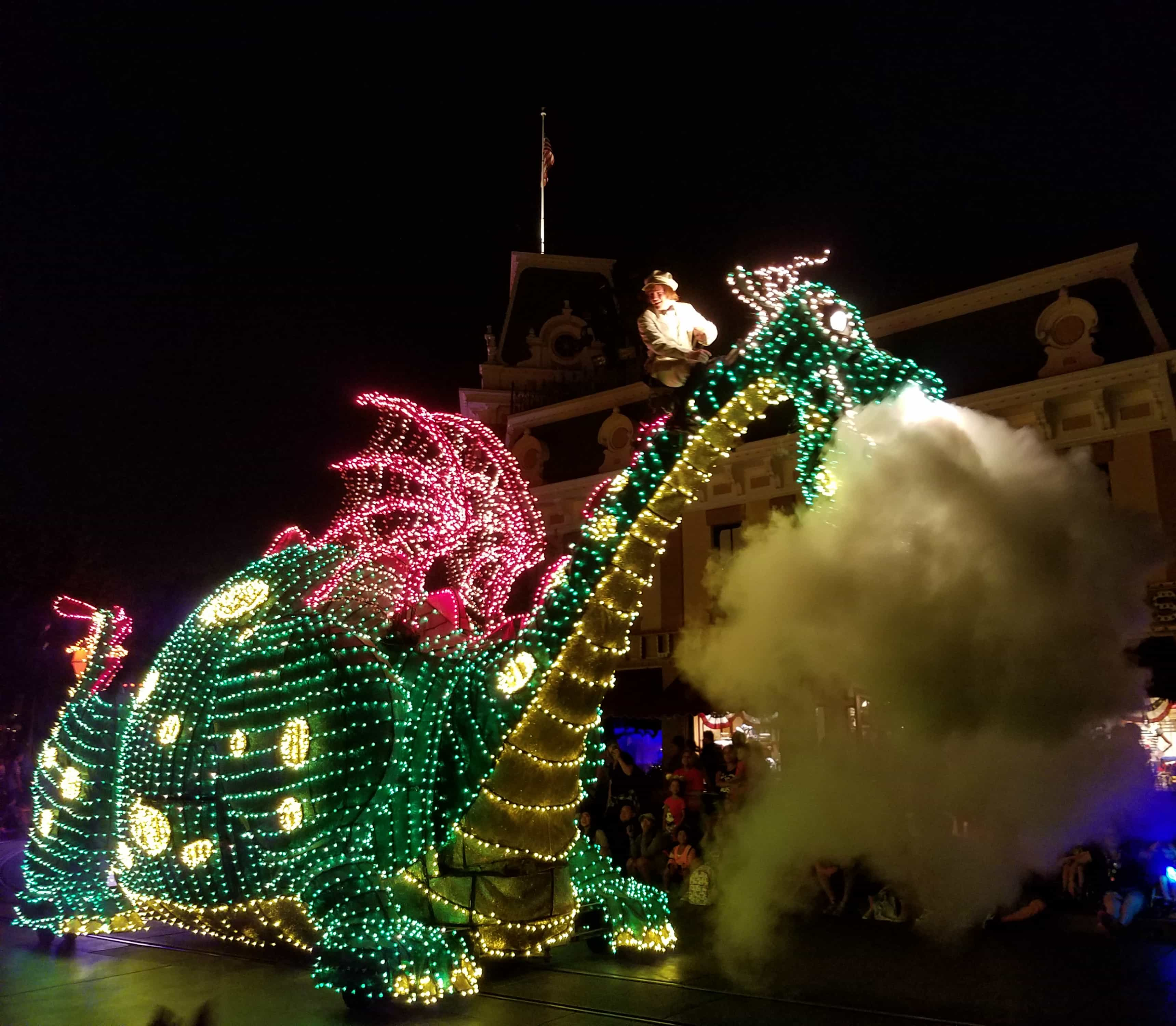 While at D23 Expo - Disneyland and Disney California Adventure - Summer of Heroes - Dragon in Parade