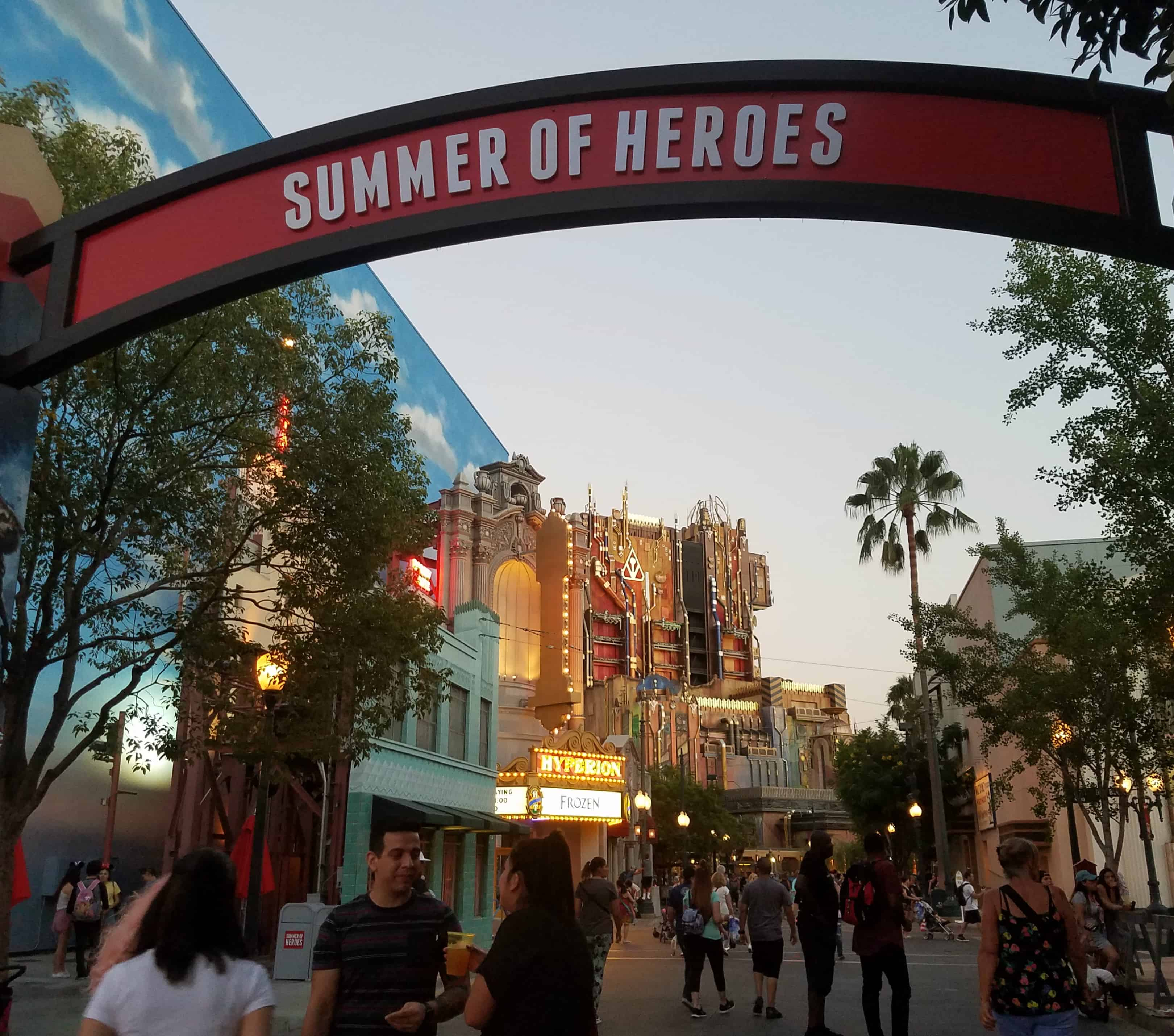 While at D23 Expo - Disneyland and Disney California Adventure - Summer of Heroes