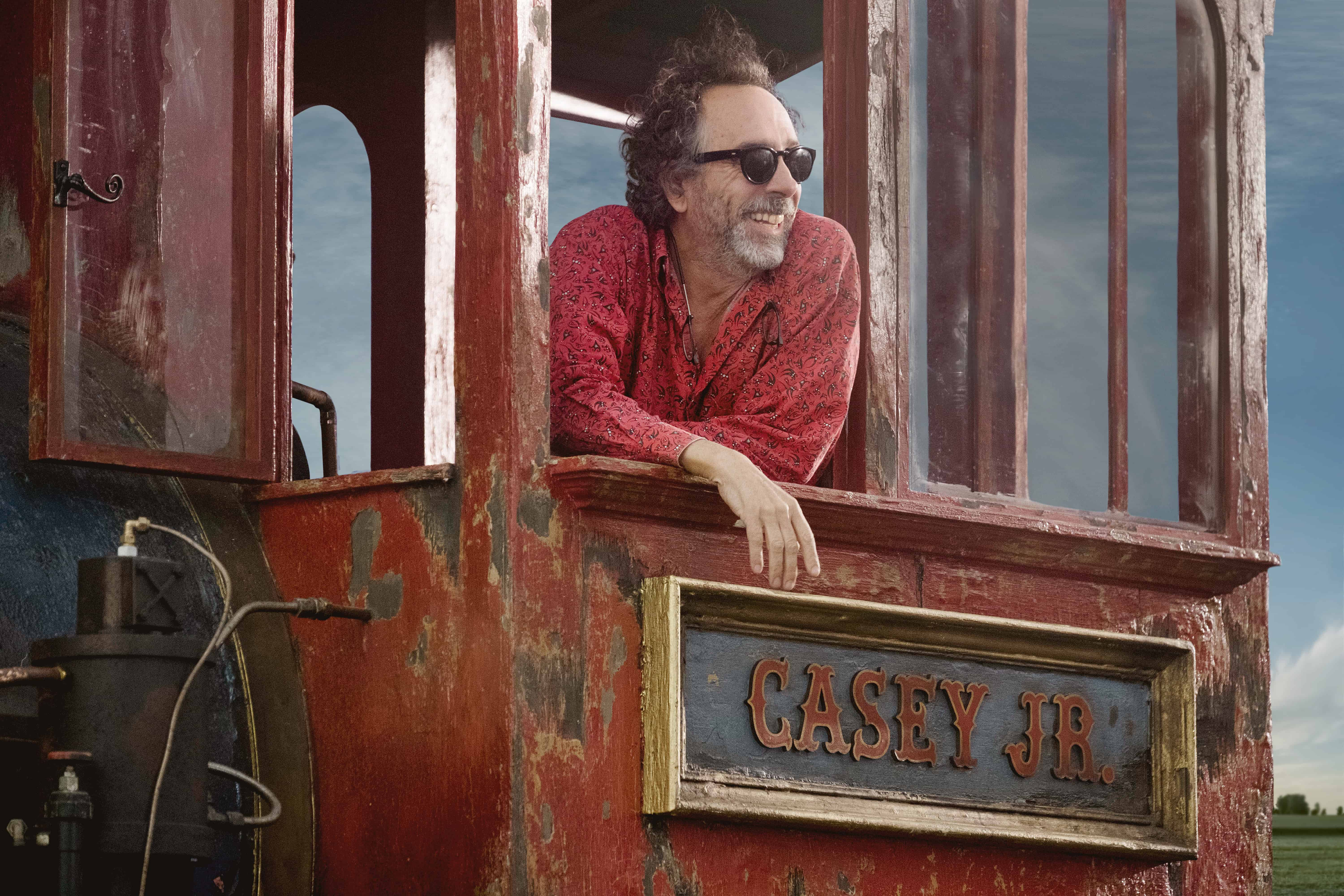 """GOTTA FLY – Visionary filmmaker Tim Burton helms the live-action reimagining of Disney's 1941 animated classic """"Dumbo."""" """"'Dumbo' was always one of my favorite Disney films,"""" said Burton. """"We're trying to give it the same heart, feeling and emotion that we all loved about the original."""" Starring Colin Farrell, Michael Keaton, Danny DeVito, Eva Green, Nico Parker and Finley Hobbins, """"Dumbo"""" is currently in production in England. © 2017 Disney Enterprises, Inc. All Rights Reserved.."""