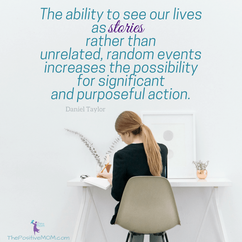 The ability to see our lives as stories rather than unrelated, random events increases the possibility for significant and purposeful action. Daniel Taylor quote