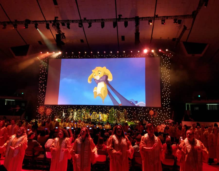 The Lion King choir - The Circle of Life at D23 Expo