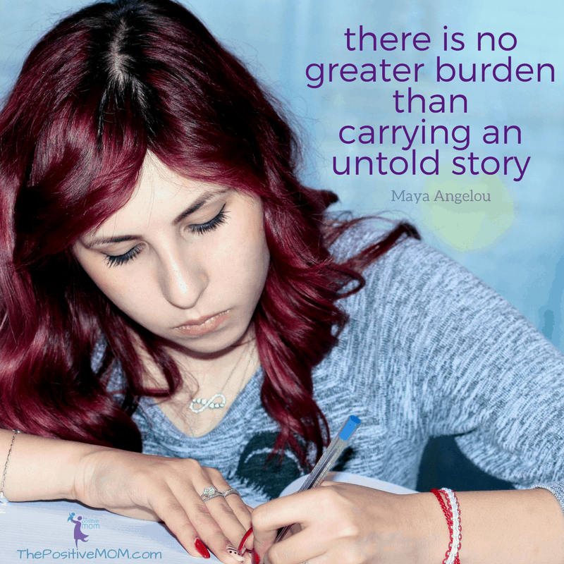 There is no greater burden than carrying an untold story. Maya Angelou