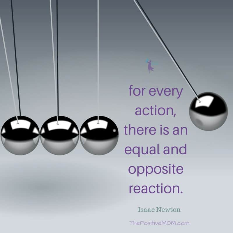 For every action, there is an equal and opposite reaction - quote