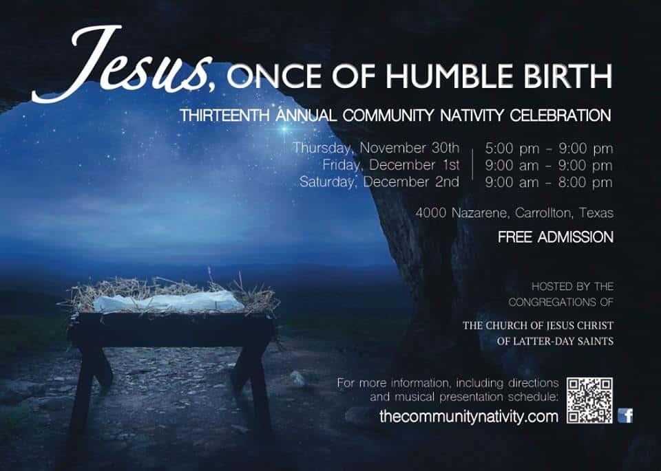 The Community Nativity - Carrollton Stake Texas