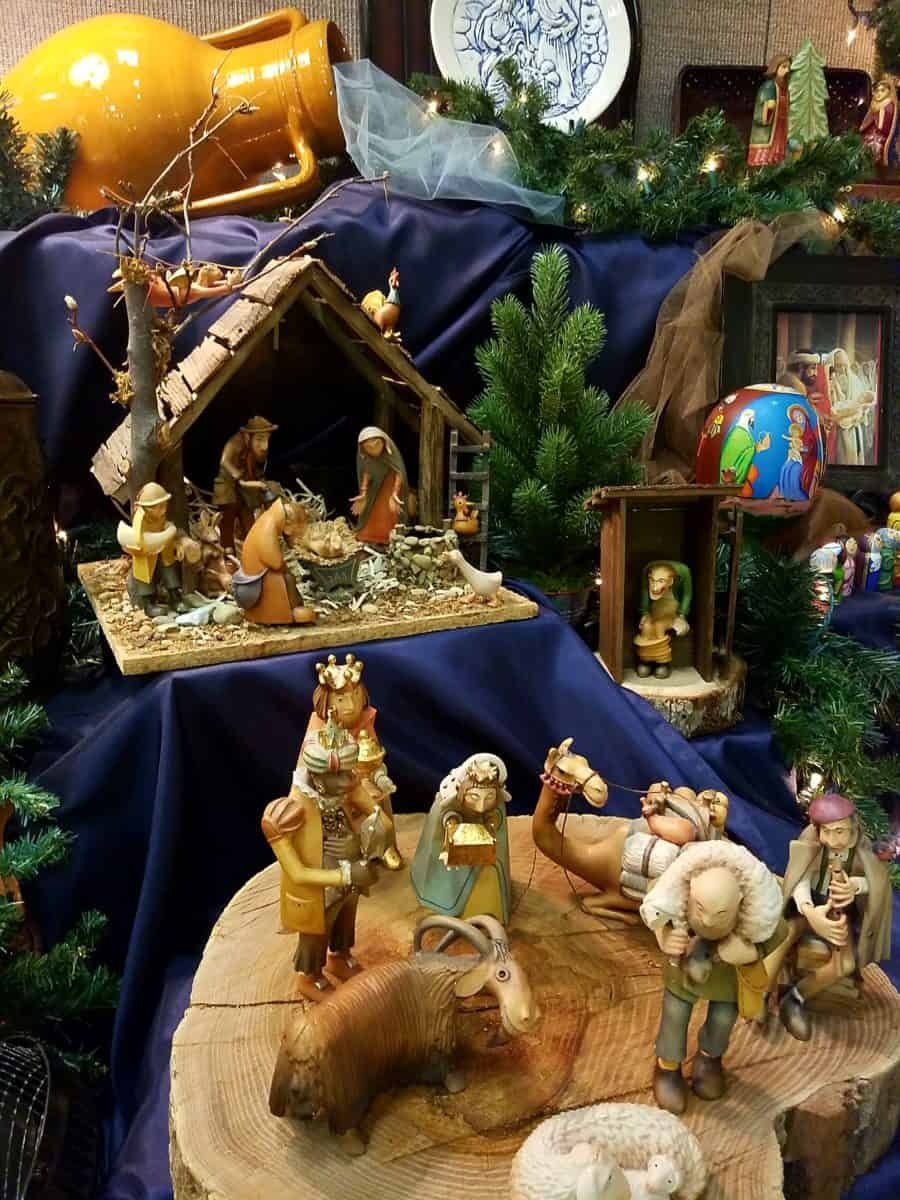 Free Community Nativity display in Carrollton, Texas during the Christmas Season
