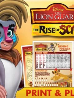 Disney Junior - The Lion Guard : The Rise of Scar - FREE activity sheets for kids