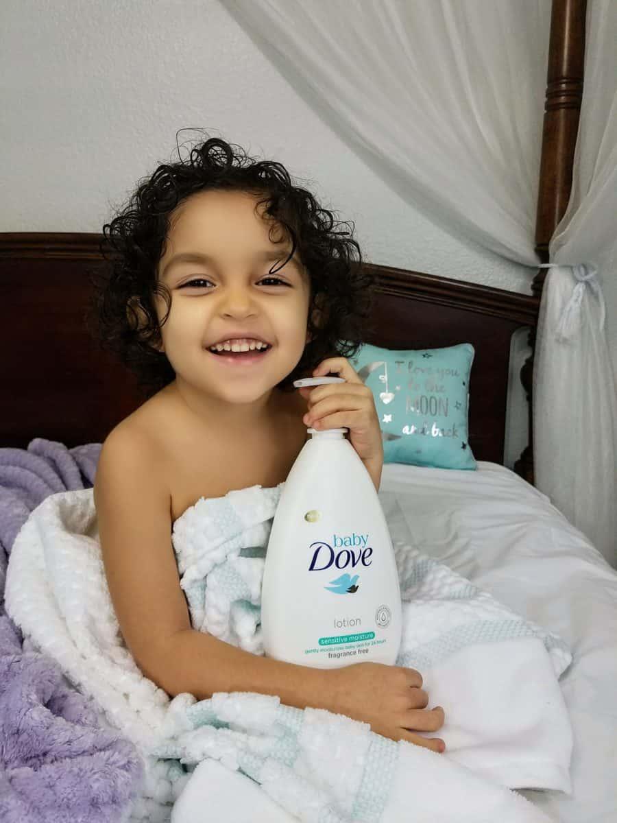 Baby Dove nurturing child skin