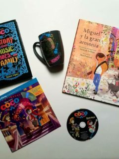 Pixar Coco giveaway - DVD Bluray / Coco Books and Miguel Mug