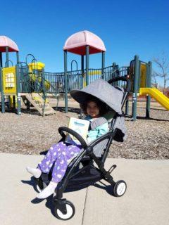 Baby Stroller Light Weight Portable Pram (Grey) - Tiny Wonders