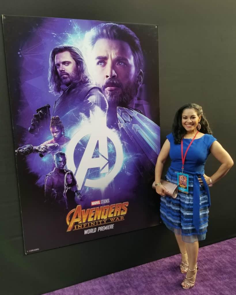 Avengers: Infinity War red carpet World Premiere photos - Elayna Fernandez ~ The Positive MOM - MARVEL Studios