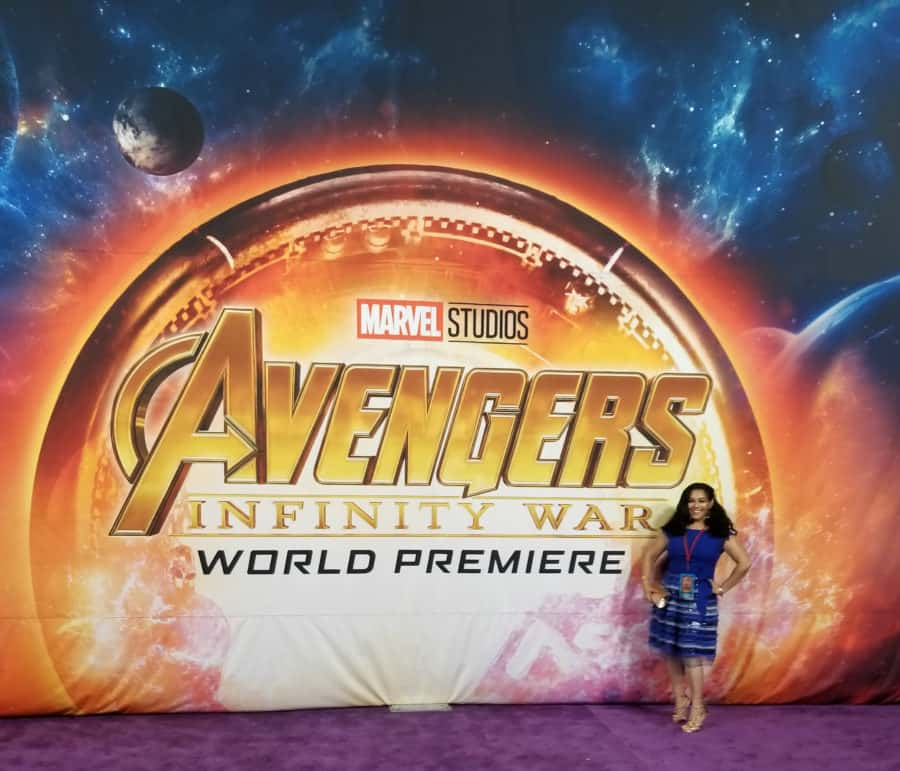 Avengers: Infinity War red carpet World Premiere photos - Elayna Fernandez ~ The Positive MOM