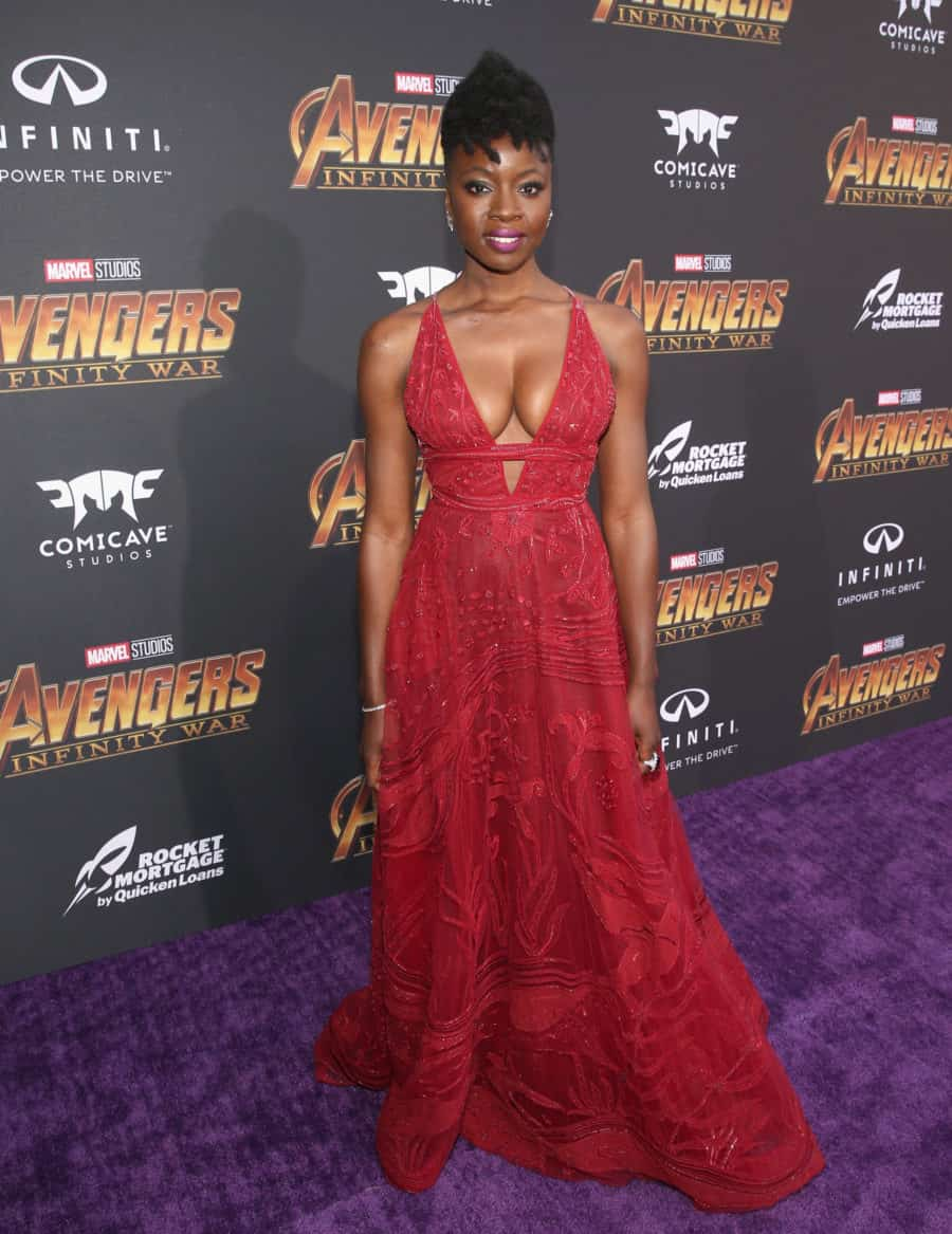 HOLLYWOOD, CA - APRIL 23:  Actor Danai Gurira attends the Los Angeles Global Premiere for Marvel Studios' Avengers: Infinity War on April 23, 2018 in Hollywood, California.  (Photo by Jesse Grant/Getty Images for Disney) *** Local Caption *** Danai Gurira