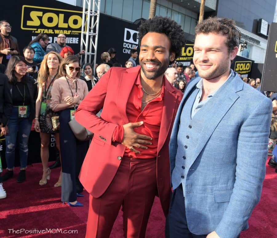 "HOLLYWOOD, CA - MAY 10: Actors Donald Glover (L) and Alden Ehrenreich attend the world premiere of ""Solo: A Star Wars Story"" in Hollywood on May 10, 2018. (Photo by Charley Gallay/Getty Images for Disney) *** Local Caption *** Donald Glover; Alden Ehrenreich"