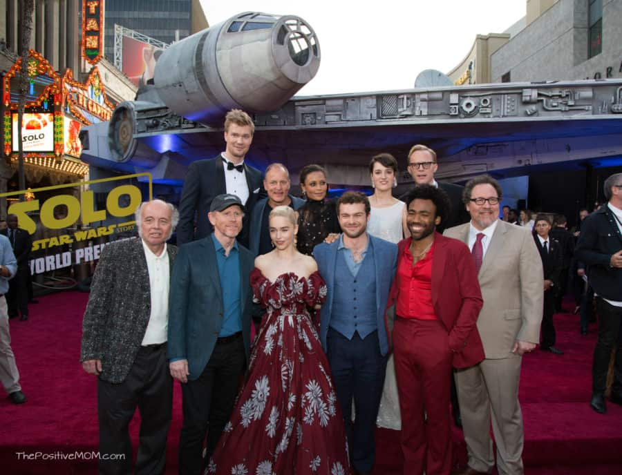 "HOLLYWOOD, CA - MAY 10: (From Top L-R) Actors Joonas Suotamo, Woody Harrelson, Thandie Newton, Phoebe Waller-Bridge, and Paul Bettany, (Bottom L-R) Actor Clint Howard, Director Ron Howard, and actors Emilia Clarke, Alden Ehrenreich, Donald Glover, and Jon Favreau attend the world premiere of ""Solo: A Star Wars Story"" in Hollywood on May 10, 2018. (Photo by Alberto E. Rodriguez/Getty Images for Disney) *** Local Caption *** Joonas Suotamo; Clint Howard; Woody Harrelson; Thandie Newton; Phoebe Waller-Bridge; Paul Bettany; Ron Howard; Emilia Clarke; Alden Ehrenreich; Jon Favreau; Donald Glover"