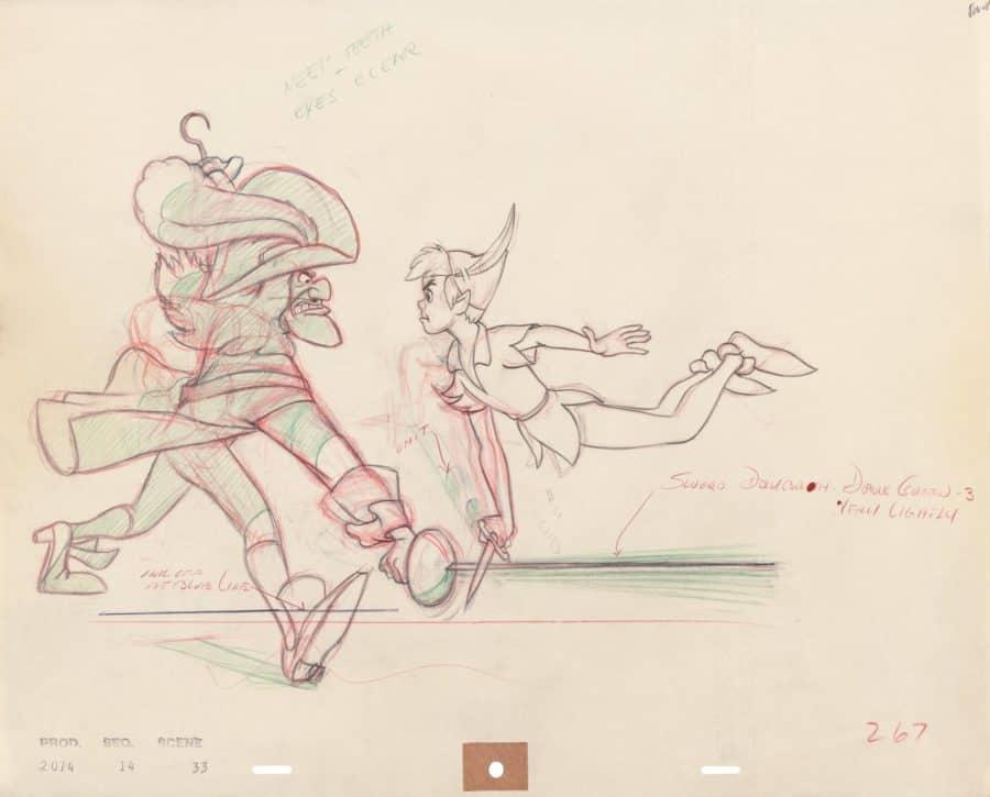 Peter Pan Captain Hook original drawing disney ARL