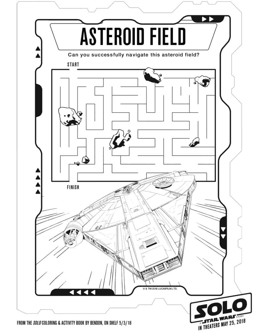 Free Printable Star Wars Coloring Pages | #HanSolo