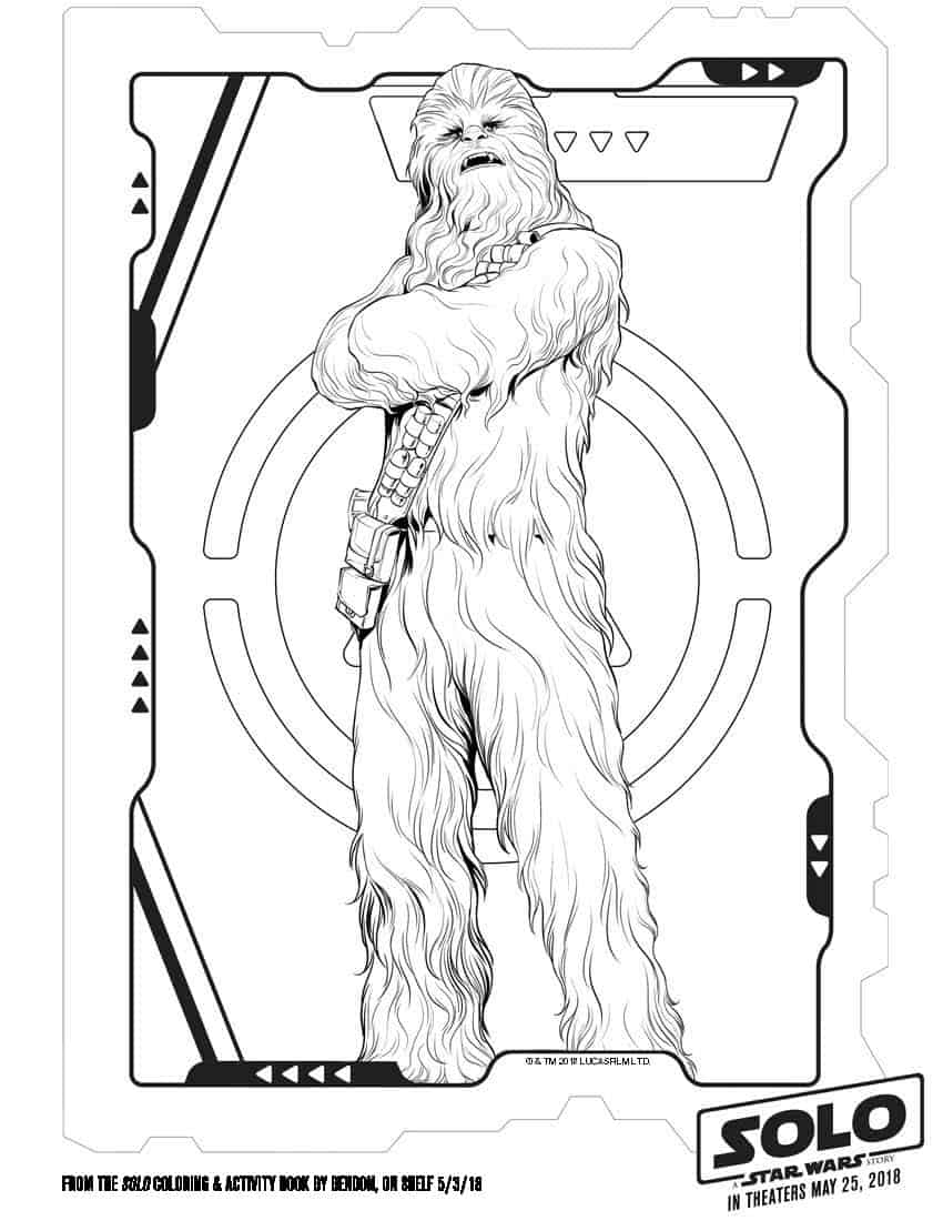free coloring pages and star wars | Free Printable Star Wars Coloring Pages | #HanSolo # ...