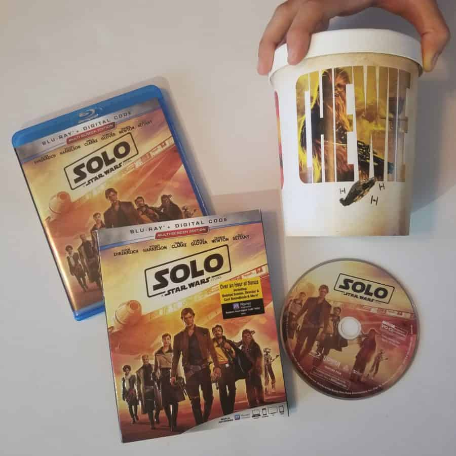 Solo A Star Wars Story - Han Solo - Digital / DVD / Bluray + Popcorn