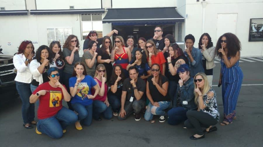 Captain Marvel secret set visit - Disney Top Bloggers