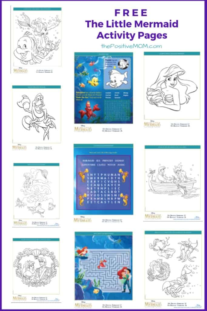 The Little Mermaid Free Printable : Coloring Pages and ...